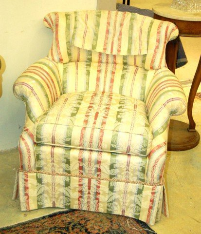 9: Pair of Upholstered Easy Chairs