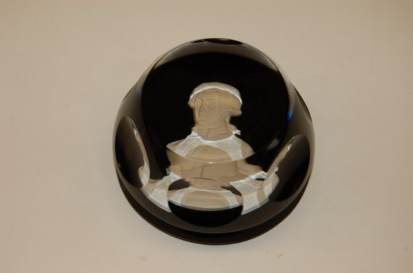 11: Baccarat Crystal Sulfide Paperweight - Marquis de L