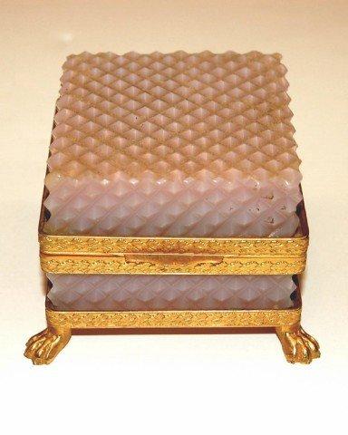 23: Opaline Diamond Point Dresser Box