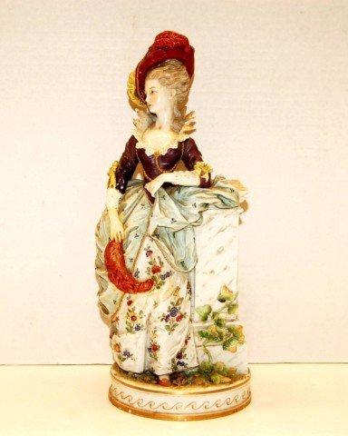 76: 19th Century European Porcelain Figure of Woman