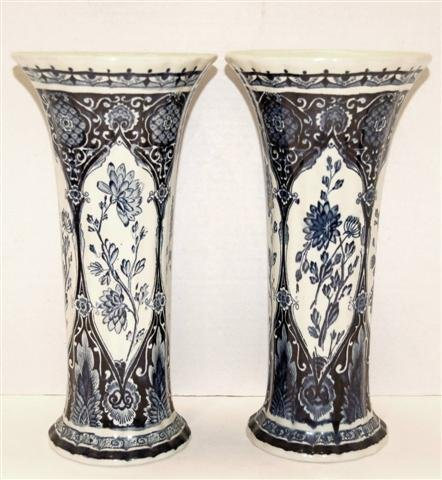 4: Pair of Delft Vases by Boch