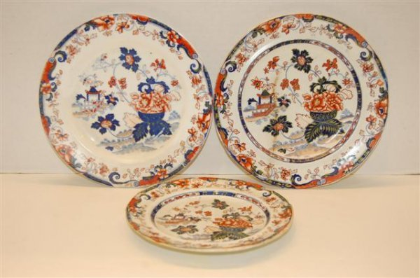 6: Three 19th Century English Ironstone Plates