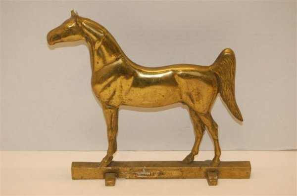 11: Brass Horse Door Stop - King-Denio - Rife Loth Corp
