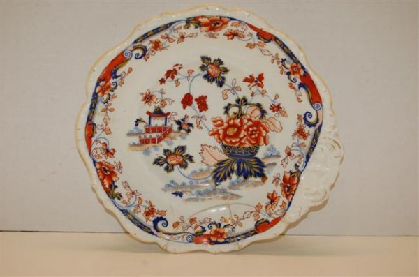 16: 19th C Eng. Amherst, Japan Stone China Serving Dish