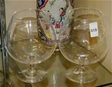 19 Pair of Steuben Crystal Brandy Snifters