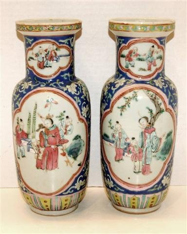 20: Pair of 19th Century Japanese Porcelain Vases