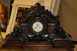 104: Carved Wooden Black Forest Mantle Clock