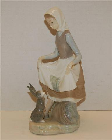 3: Lladro Figurine - Woman with Rabbit