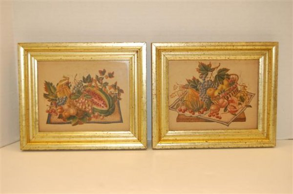 6: Pair of Borghesse Lithographs - Still Life of Fruit