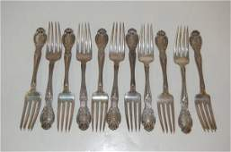 "23: Eleven Tiffany & Co. Sterling Forks - "" Richelieu """