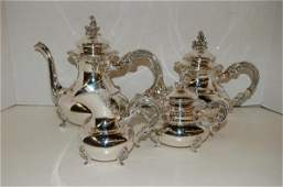 67: 4-Pc German Sterling Tea Set - 59 oz.