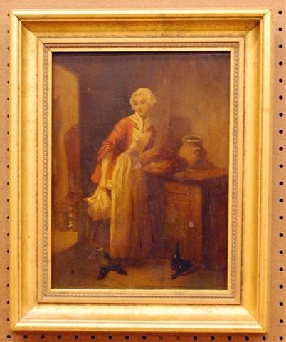 169: French 19th Century Oil on Board
