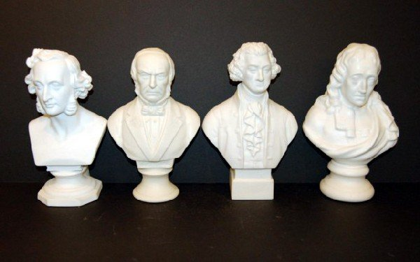 1: Four Parian Busts