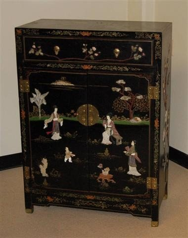 4: Oriental Lacquer Decorated Coromandel Cabinet