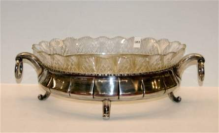 83: European Footed Console Bowl - on silver base
