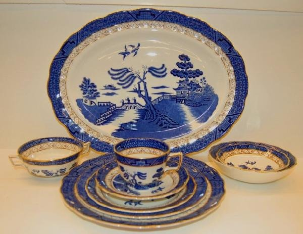 "182: Set of Royal Doulton "" Real Old Willow "" China"