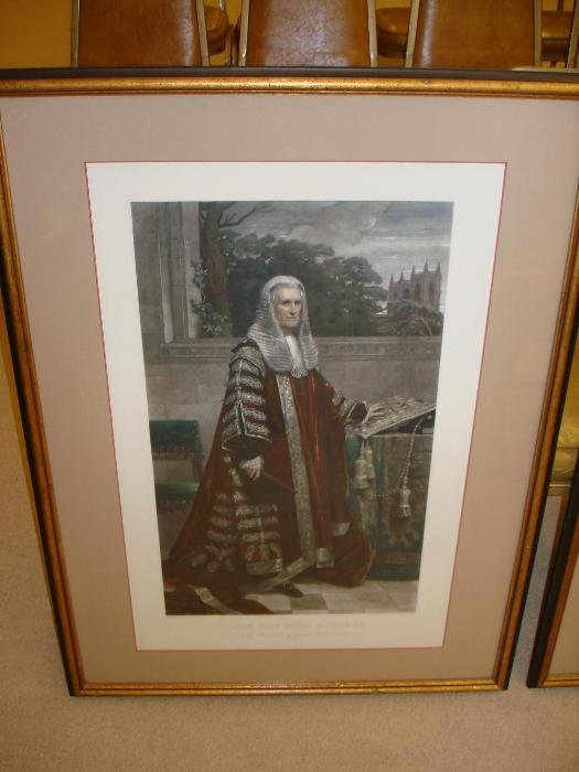 289: Two Framed & Matted Lithographs - English Noblemen
