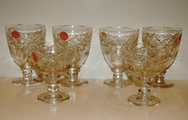 22: Six Pcs. of English Tudor Cut Crystal Stemware