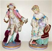 116: Pair of 19th Century Meissen Figurines