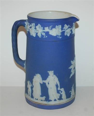 1: Late 19th Century Blue Wedgwood Jasperware Pitcher