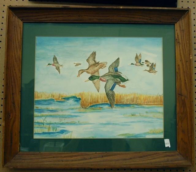 "3: Watercolor - ""Ducks in Flight"""