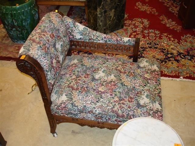 4: Walnut Eastlake Victorian Bustle Chair