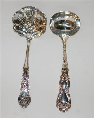 13: Two Silverplated Ladles - One Vintage & One Gorham