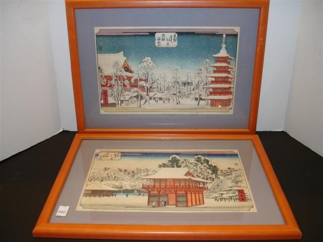 2: Two Japanese Woodblock Prints