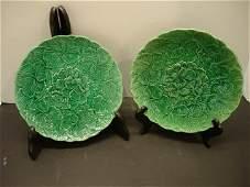 31 Pair of English Majolica Plates