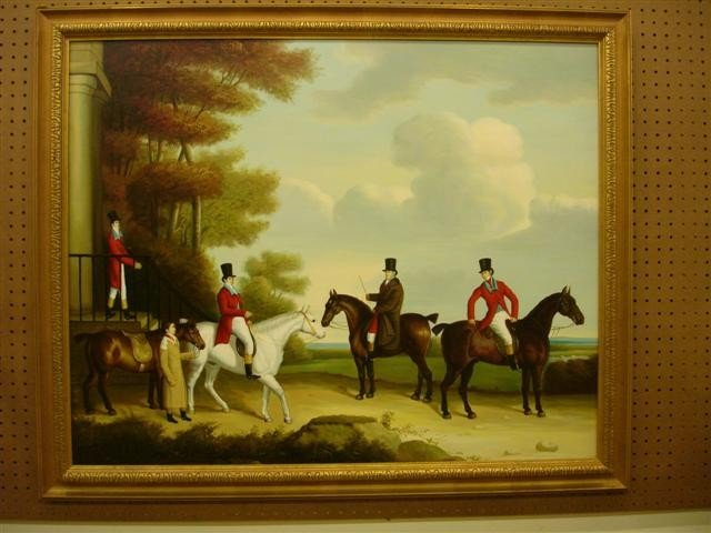 4: Oil on Canvas - The Bower Family with their Hunters