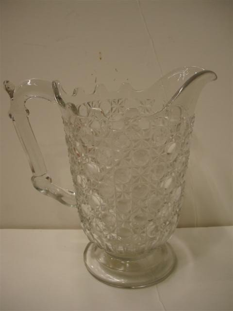 """6: 19th Century """"Currier & Ives"""" Pattern Glass Pitcher"""
