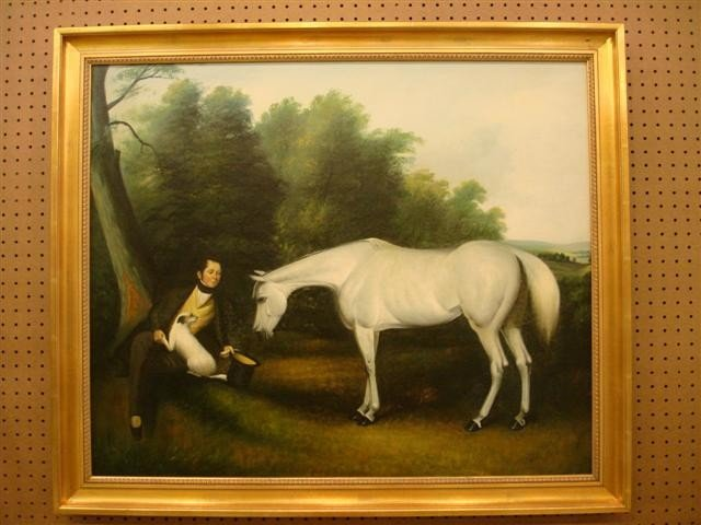 9: Oil on Canvas - John Ferneley & his Favorite Hunter