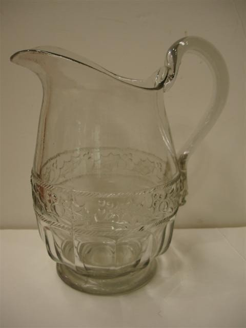11: 19th Century American Pattern Glass Water Pitcher