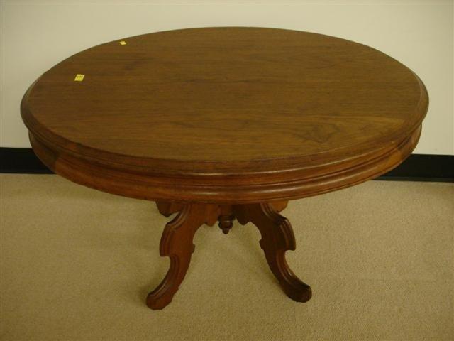 14: Oval Walnut Victorian Coffee Table
