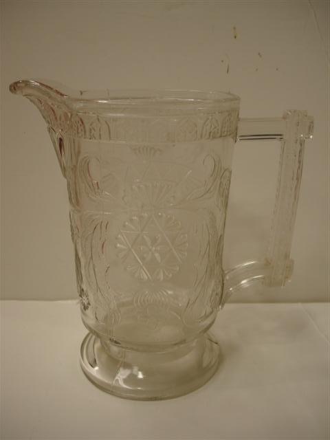 22: 19th C American Pattern Glass Pitcher