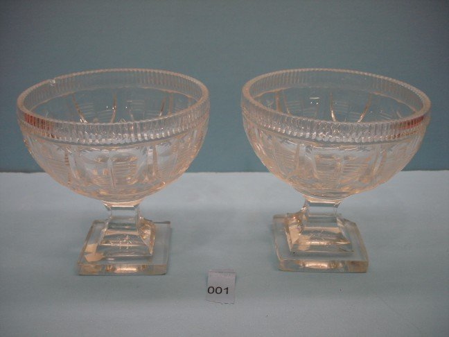 1: Pr. Cut Crystal Compotes - English or Irish
