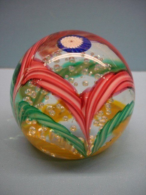 8: Millefiori Art Glass Paperweight