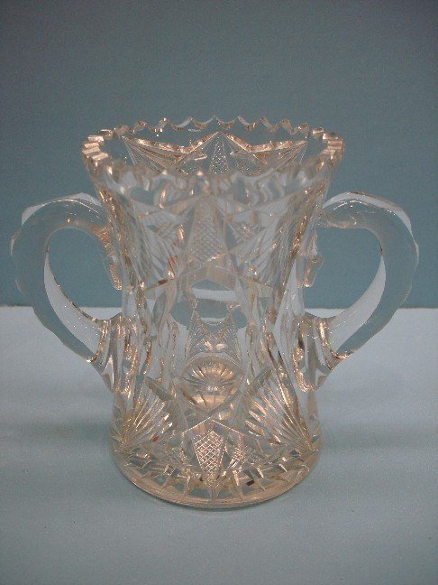 11: American Brilliant Period Cut Glass Loving Cup