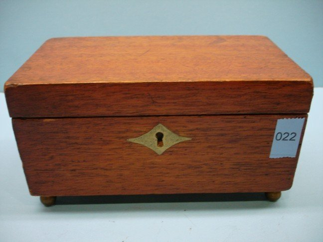 22: Small 19th Century English Mahogany Tea Caddy