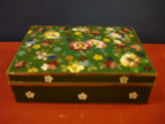3: Chinese Cloissonne Cigarette Box - Floral
