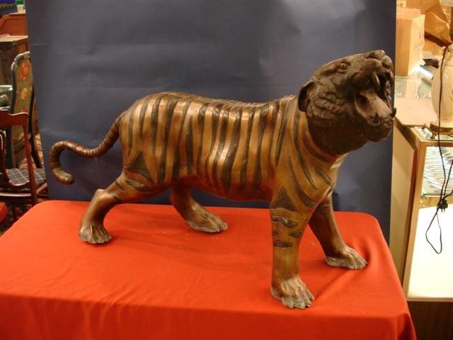 19: Bronze Figure - Bengal Tiger