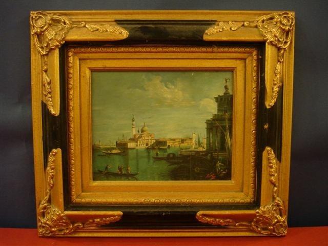 23: Oil on Canvas - Venetian Scene - signed N Moss