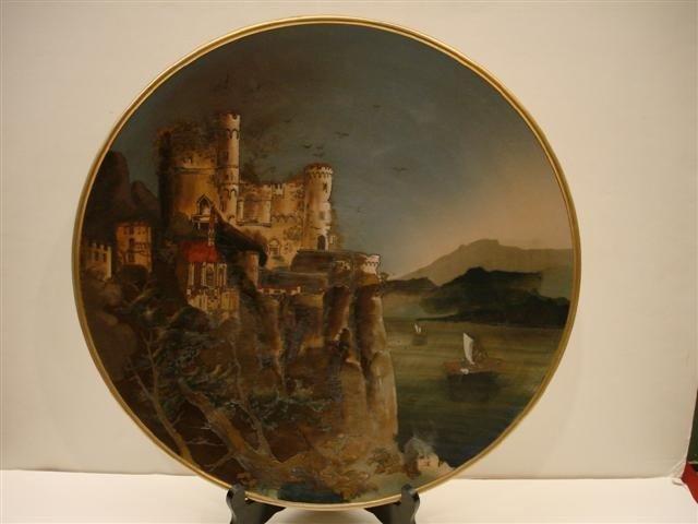 212: Mettlach Plaque - Castle Scene # 2195