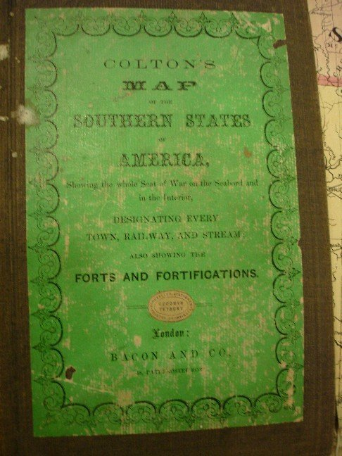 297: Coldons Map of the Southern States, 1862 - folds i