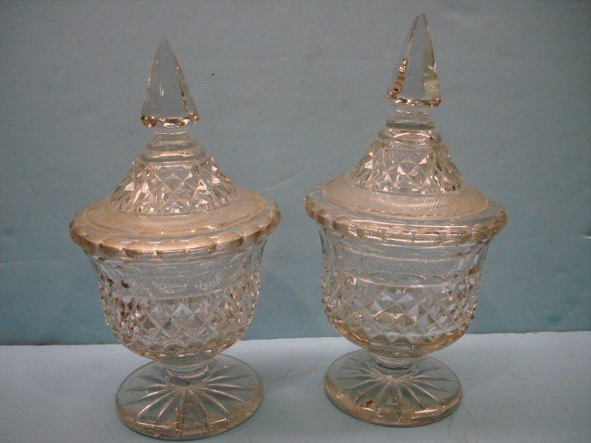 23: Pair of 19th Century English Covered Urns