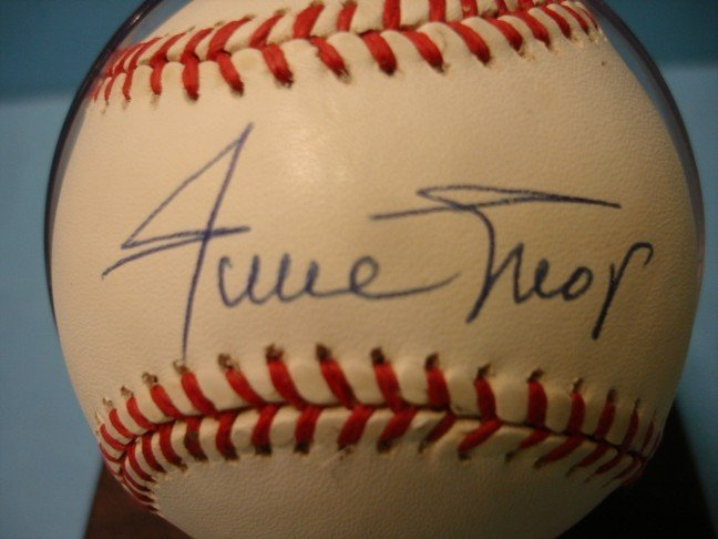 4: Willie Mays Autographed Baseball