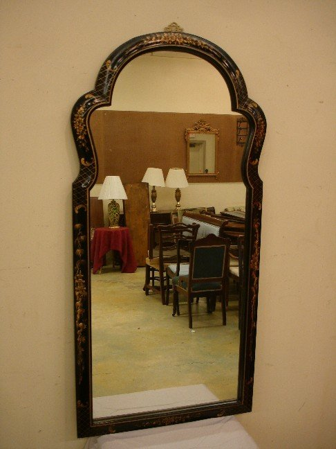 9: Queen Anne Style Mirror w/ Lacquered Finish