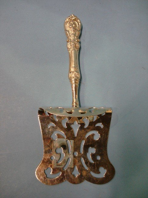 "18: Sterling Handle Slotted Server;  ""Frances I"""