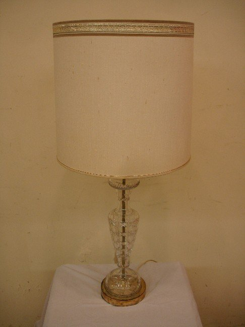 22: Pair of Cut Crystal Table Lamps