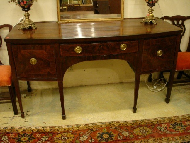 130: Period English Mahogany Hepplewhite Sideboard